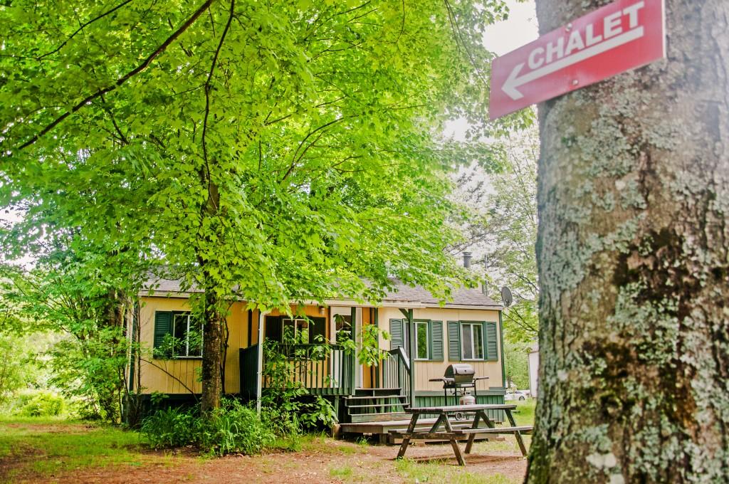 Chalet Extérieur 1 - Camping Nature Plein air, Estrie, Cantons de l'est