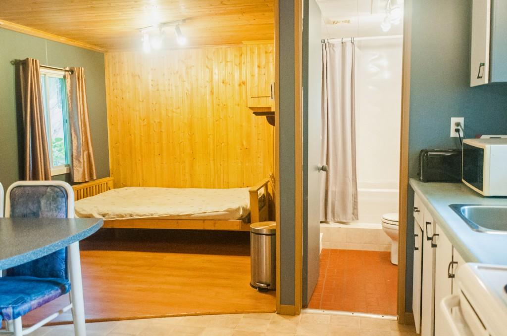 Chalet Salon Salle de bain - Camping Nature Plein air, Estrie, Cantons de l'est