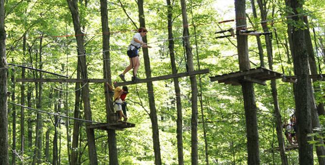 En savoir plus sur Arbre Aventure, attrait à proximité du camping - Camping Nature Plein Air